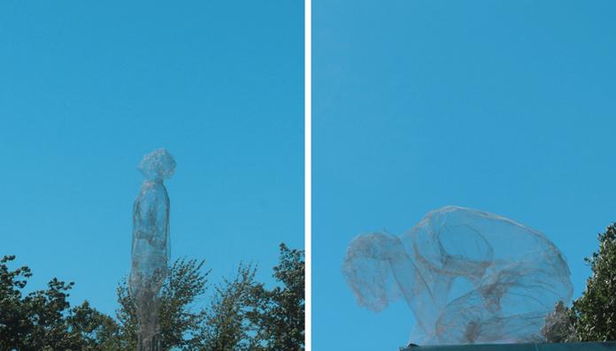"Eduardo Tresoldi ""Two Human Figures"" | Fotos: Esben Weile Kjær"