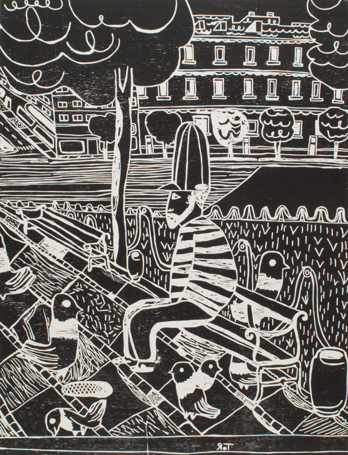 "Tal R. ""Pigeon man"", 2014 