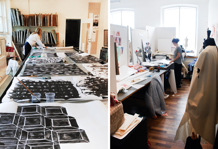 Trykværksted 1. semester, mønster og ornamentik | Studieplads på beklædningsdesign.