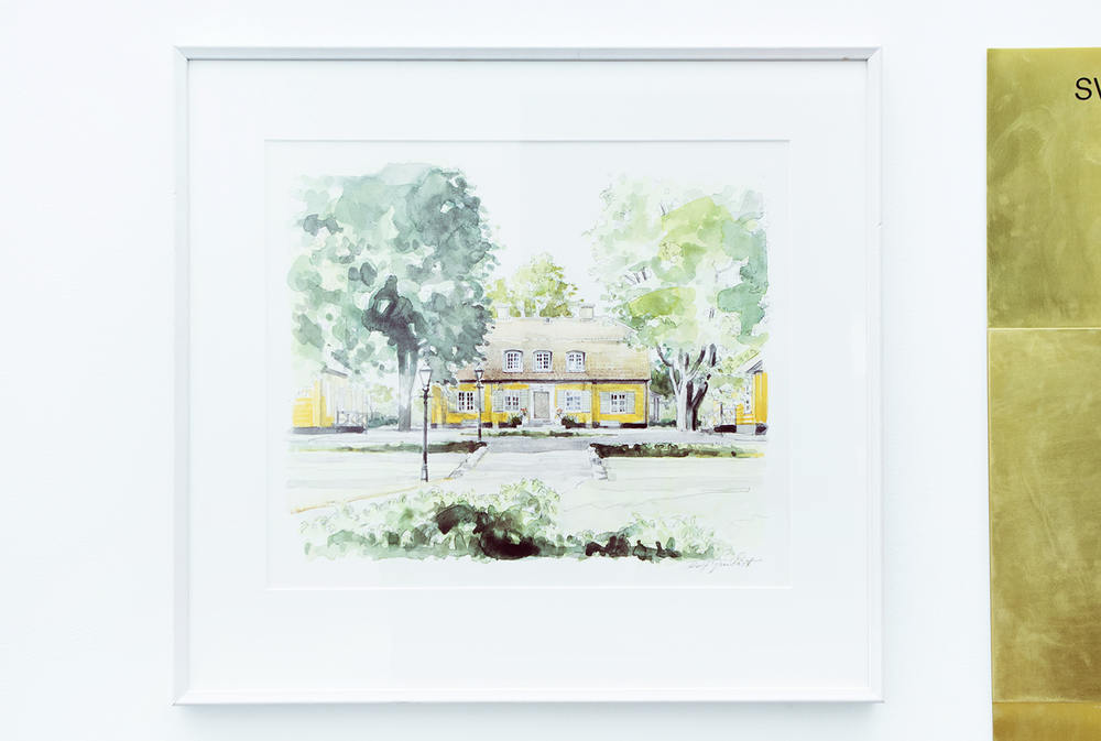 An illustration of Sven-Harrys former house Ekholmsnäs Gård | Photo by Rikke Luna & Matias © I DO ART Agency.