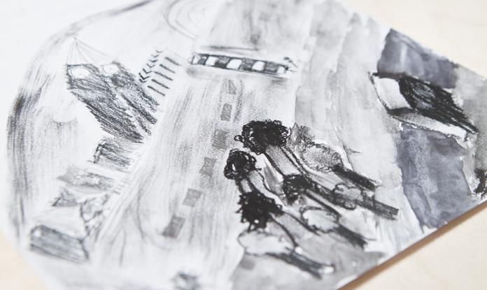 Alle tegningerne er tegnet af børn ifbm. min workshop | Fotos af I DO ART Agency.