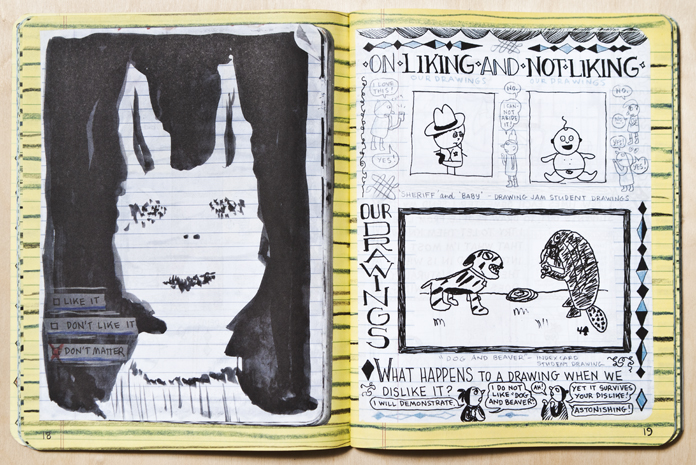 """Syllabus – Notes from an accidental professor"" by Lynda Barry."