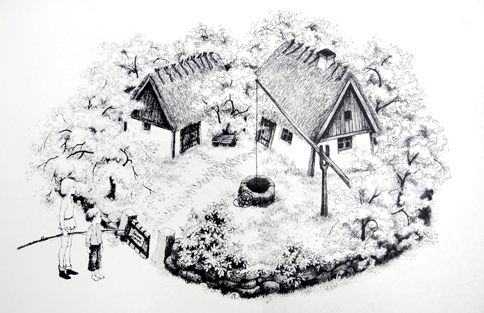 Fra Astrid Lindgren's Brødrene Løvehjerte. Illustration af Ilon Wikland.