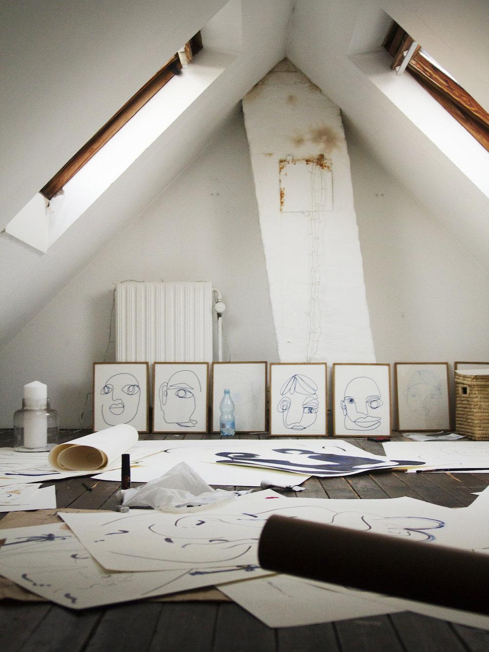 Christiane Spangsberg's studio | Photo by Louise Thornfeldt.