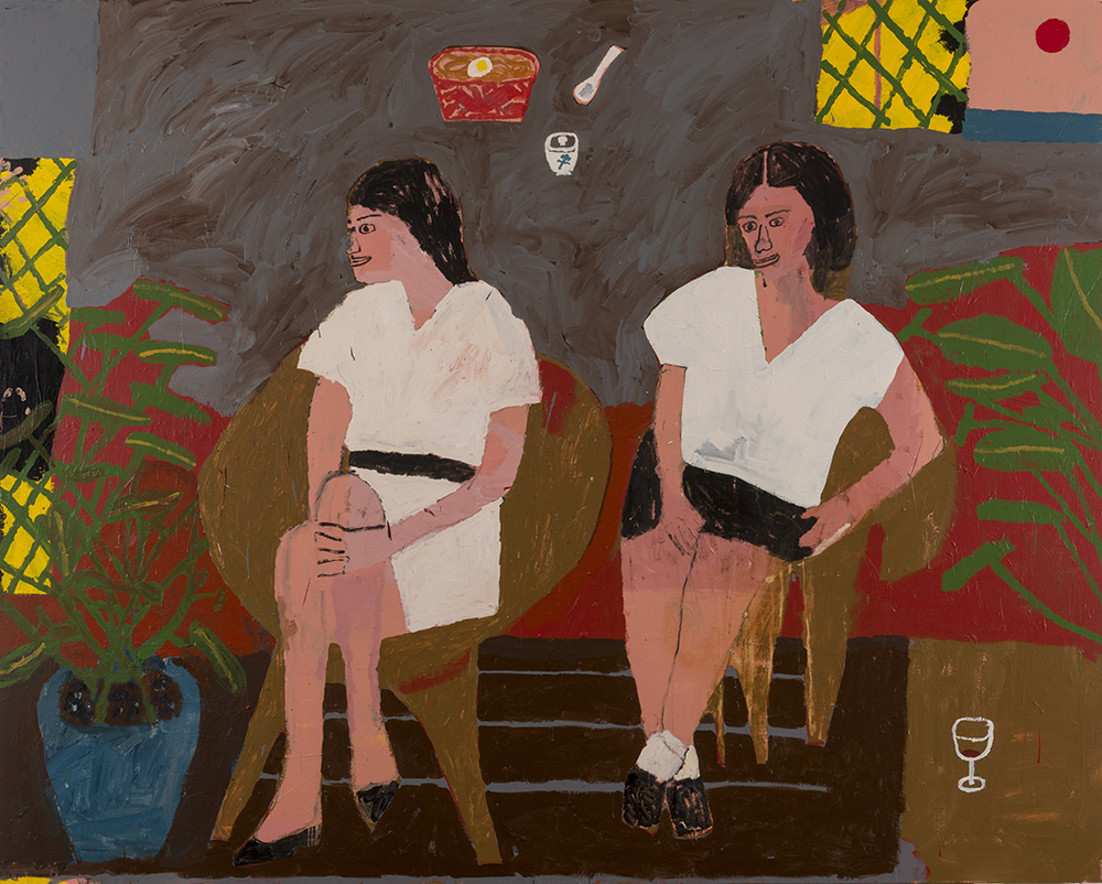 Danny Fox, The Women Are Angry And We Pretend Not To Know Why, 244x305 cm, Acrylic on Canvas.