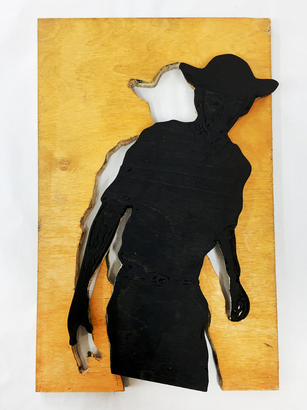 Proces, træplader til Knud Oddes nye serie | Foto: Niels Borch Jensen Gallery and Editions.