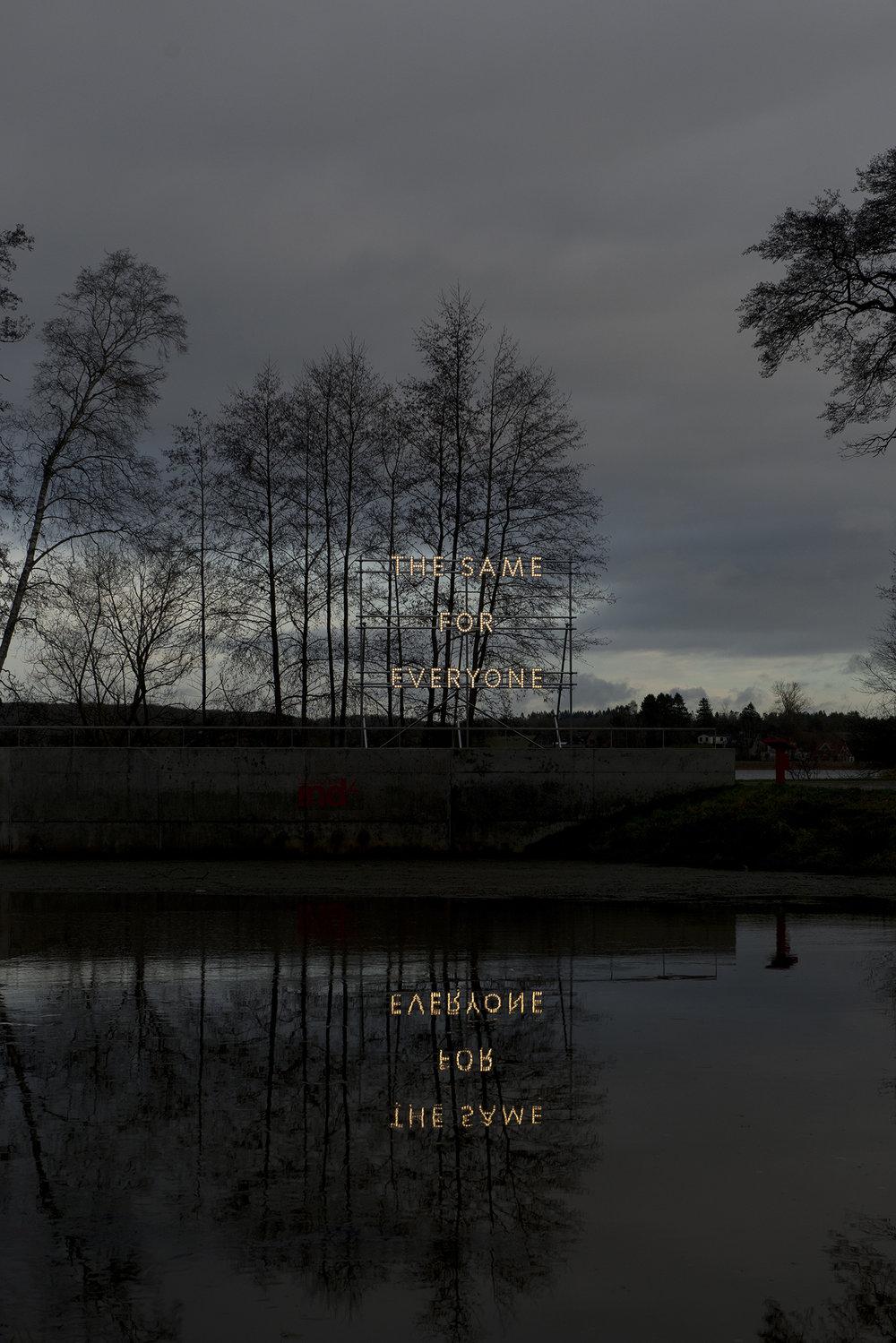 "Nathan Coley ""The Same for Everyone"" | Viborg sØnæs, Gl. Århusvej 57, 8800 Viborg | PR-foto."