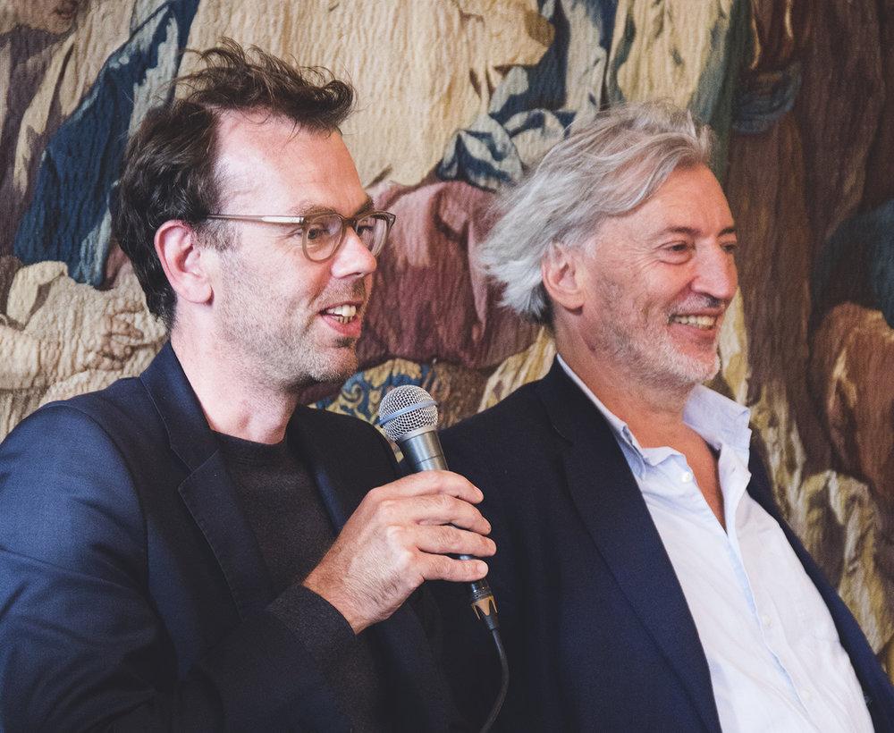 Tom Emerson (arkitekt, 6A Architects) & Jean-Marc Bustamante (kunstner og rektor, École Nationale Supérieure des Beaux-Arts, Paris) | Foto © I DO ART Agency.