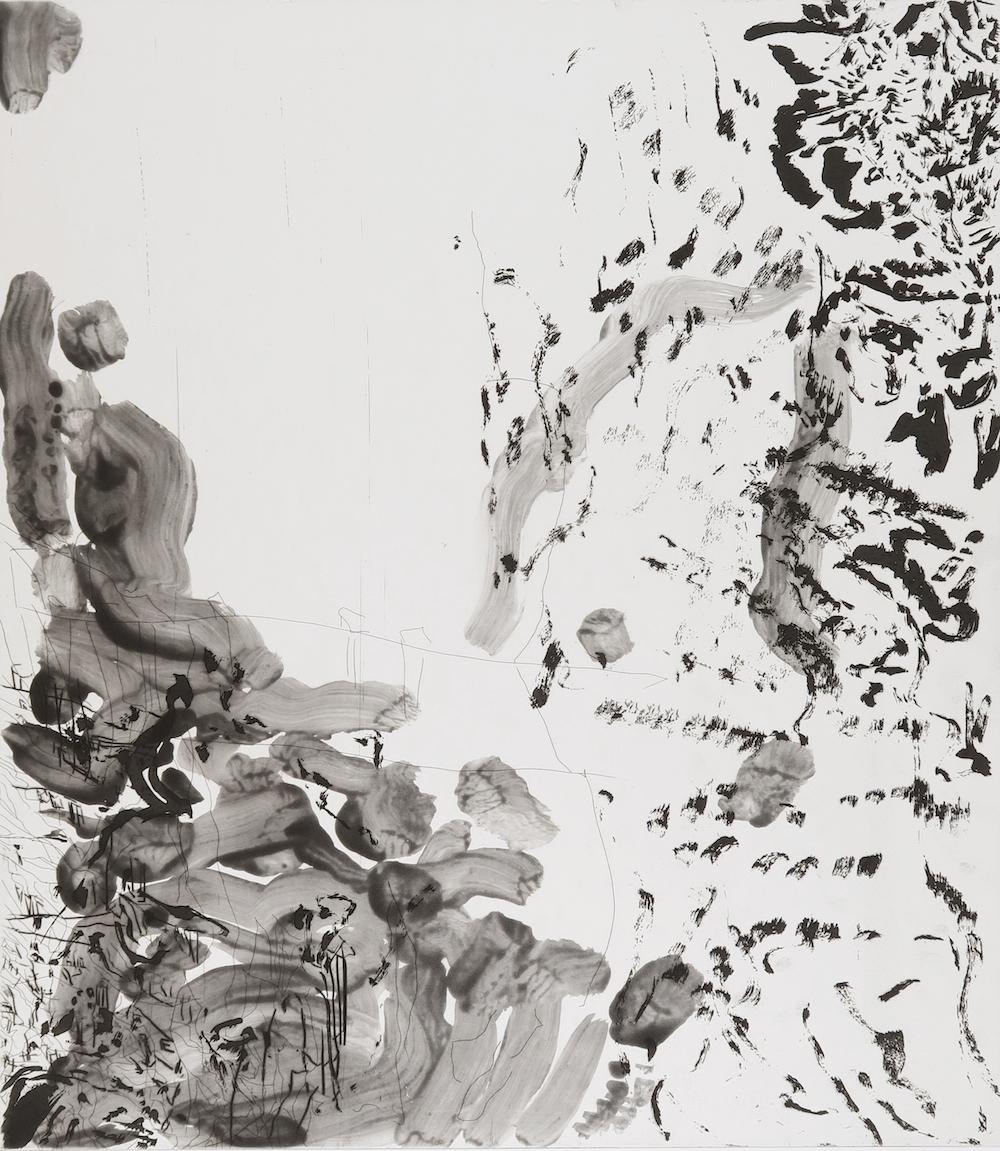 """Per Kirkeby, """" Untitled """", 2016 (akvatinte, stregætsning, tørnålsradering, 91 x 78,5 cm, edition på 12, serie af 10)."""