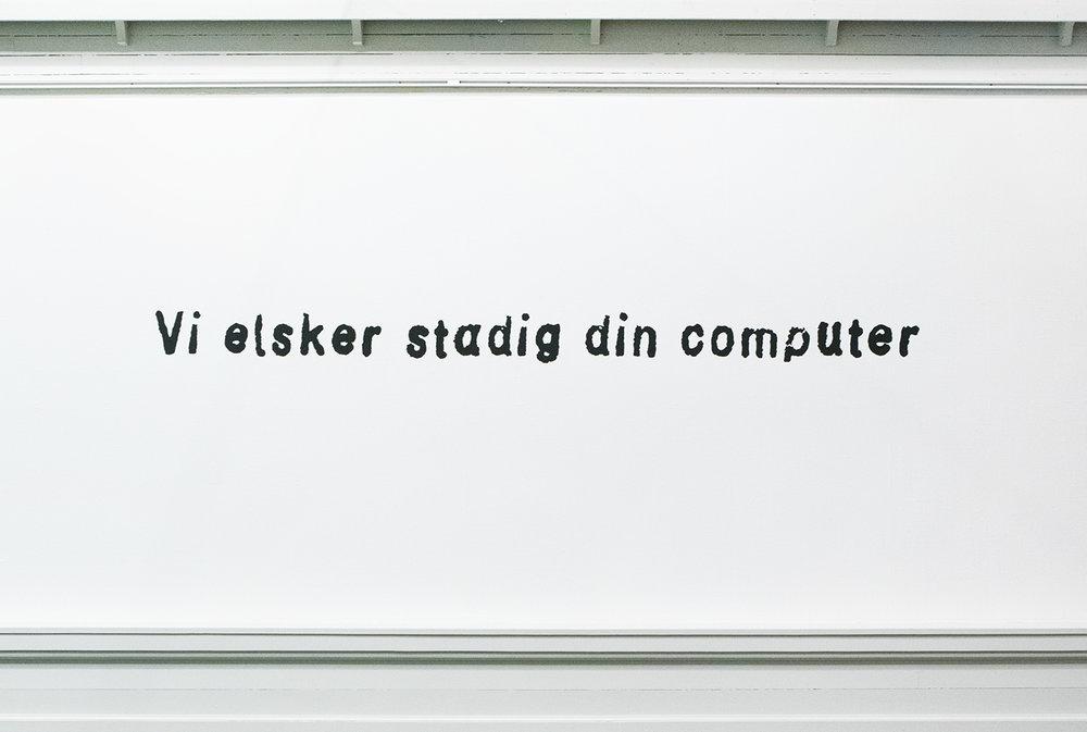 """Artnode """"Vi elsker stadig din computer""""   Foto © I DO ART Agency."""