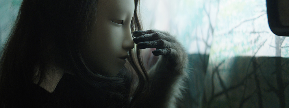 Pierre Huyghe, Untitled (Human Mask), 2014, Film, color, sound, 19 minutes. Courtesy the artist; Marian Goodman Gallery, New York; Hauser & Wirth, London; Esther Schipper, Berlin; and Anna Lena Films, Paris. © Pierre Huyghe.