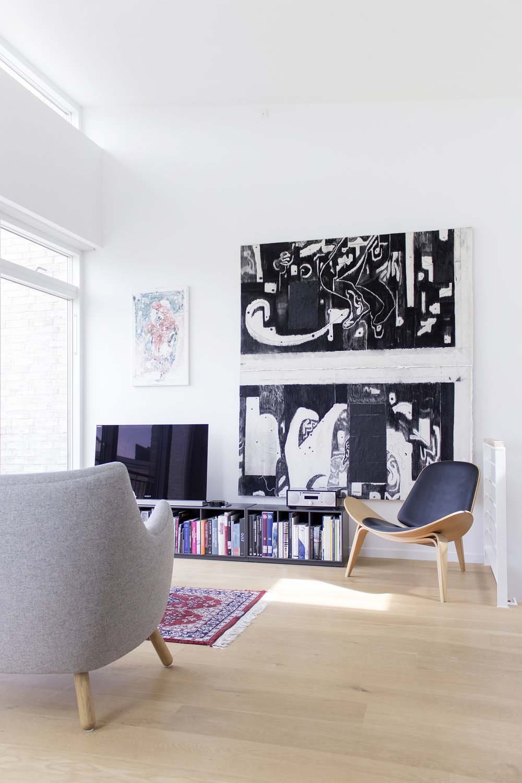 Værk af Morten Knudsen hos Claus Busch Risvig.