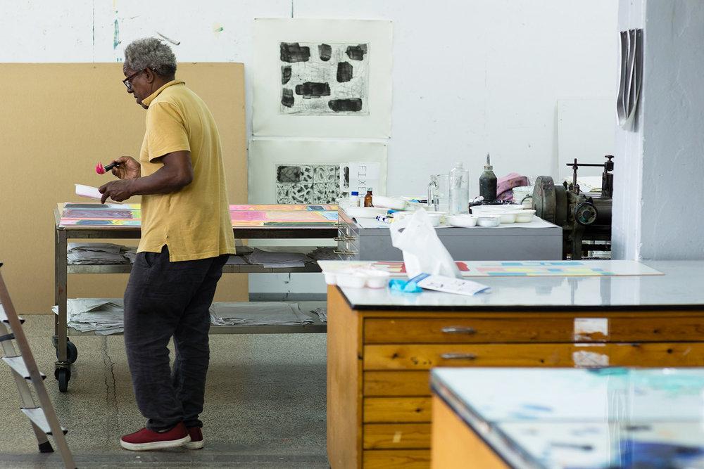 Stanley Whitney, Niels Borch Jensen Editions Print Shop | Foto: Steven Tannenberg.