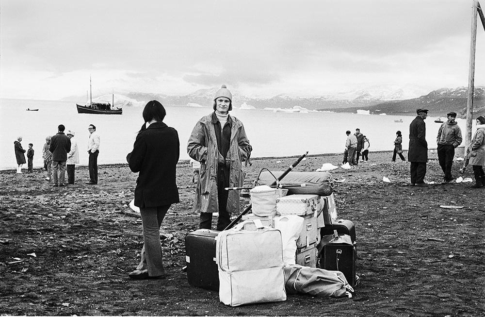 Teit Jørgensen, Per Kirkeby i Qullissat 1972.