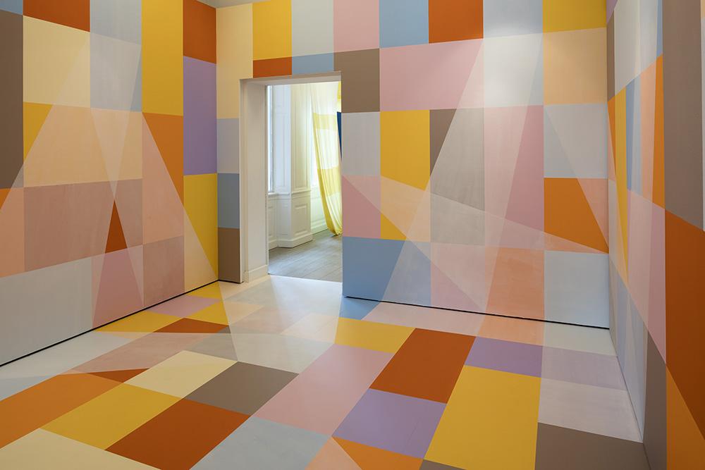 Malene Landgreen, Artistic Reality, 2017, Blandede materialer in situ, foto: Torben Eskerod.