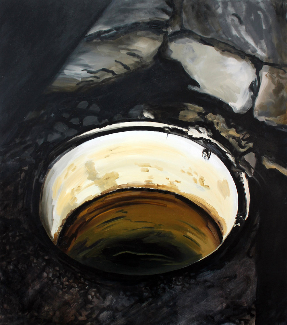 "Sara-Vide Ericson ""The Source"", 2015 (Oliemaling på lærred)."