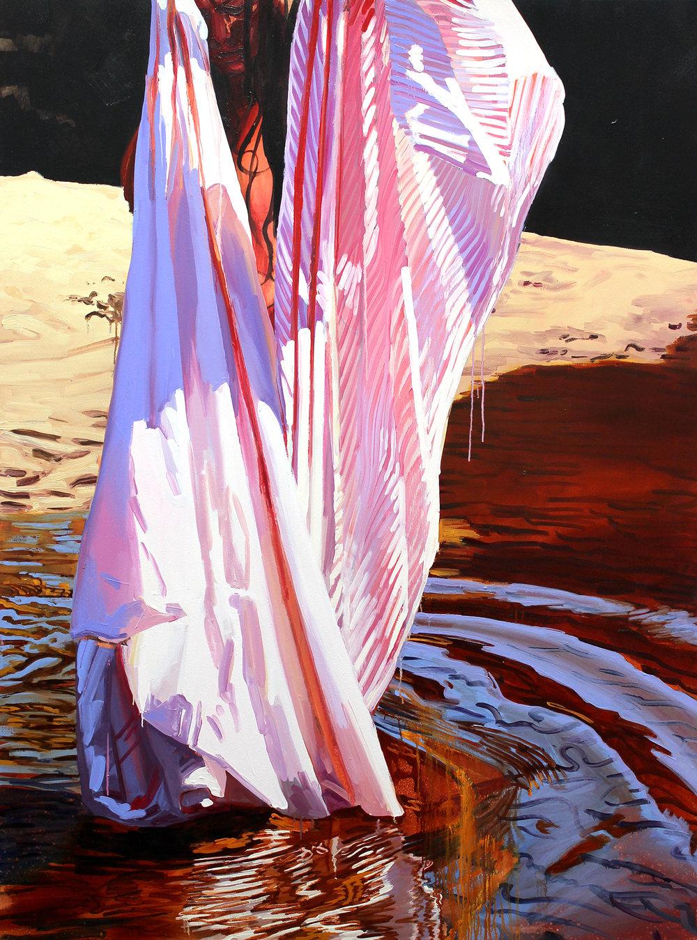 "Sara-Vide Ericson ""Gill Skin"", 2015 (Oliemaling på lærred)."