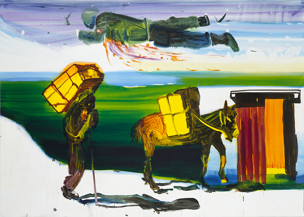 John Kørner, Brian, 2008. Akryl på lærred. 260 x 360 cm. Courtesy HEART Museum of Modern Art. Photo by Anders Sune Berg.
