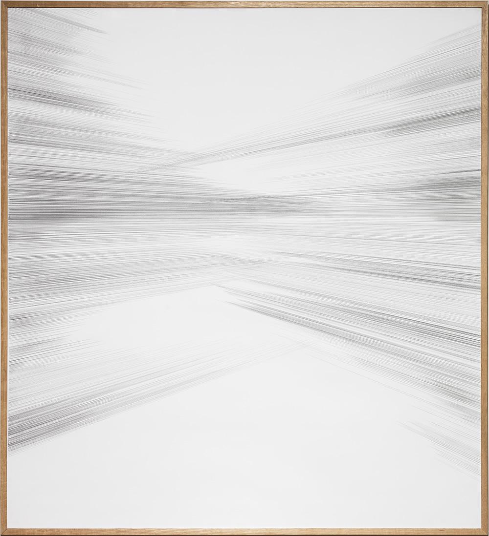 Karin Lind, Vanish, 2016 blyant på papir, 165 x 150 cm. Foto: Anders Sune Berg.
