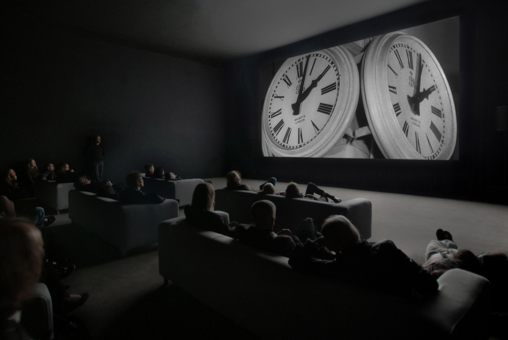 "Christian Marclay ""The Clock"" 2010. Single-channel video installation Duration: 24 hours. Courtesy White Cube, London and Paula Cooper Gallery, New York."