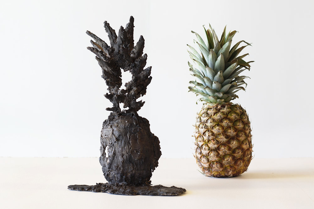 "Julie Bitsch ""Pineapple 1:1"", 2017 (Pineapple, bronze) 