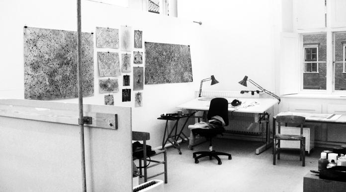 Malenes atelier på Det Kgl. Kunstakademi.