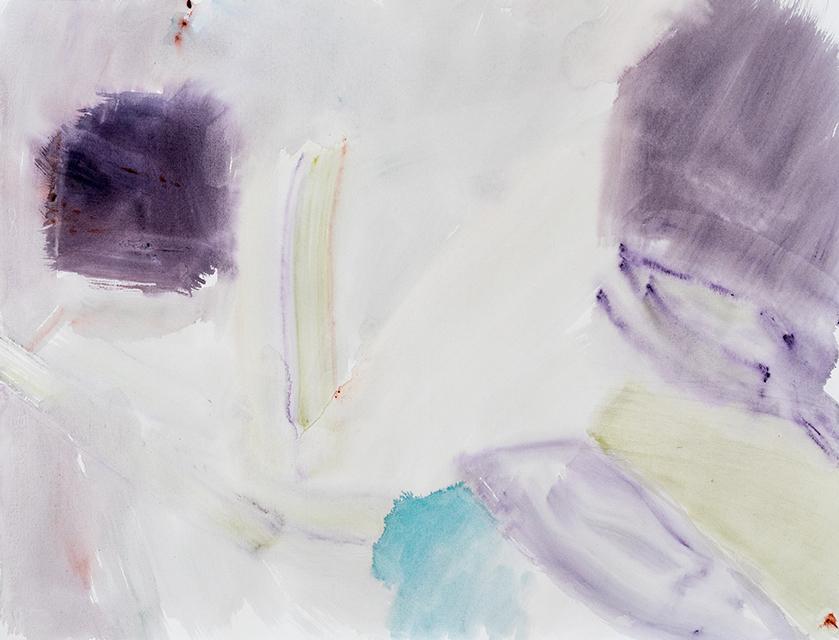 """Sidsel Carré """"Uden titel"""", akvarel på papir."""