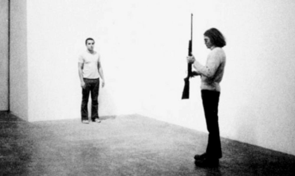 Chris Burden: Shoot (screen shot), 1971.