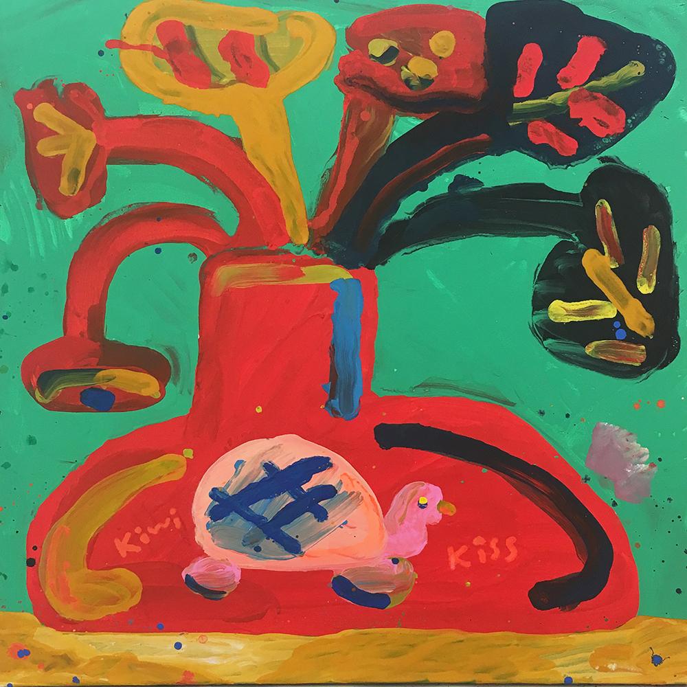 "Misaki Kawai ""Slow life"", 2017 (Acrylic on canvas, 91 x 91 cm)."
