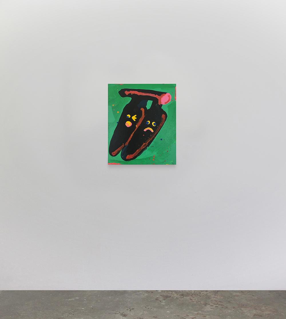 "Misaki Kawai, ""Banana Date"", 2017 (Acrylic on canvas, 61 x 51 cm). Photo: Jan Søndergaard."