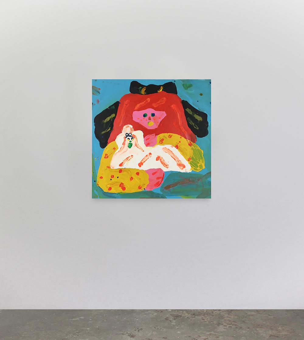 "Misaki Kawai ""Fluffy Friend"" 2017 (Acrylic on canvas, 91 x 91 cm). Photo: Jan Søndergaard."