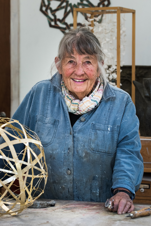 Gerda Thune Andersen, Atelier, Juli 2017. Photo by David Stjernholm.