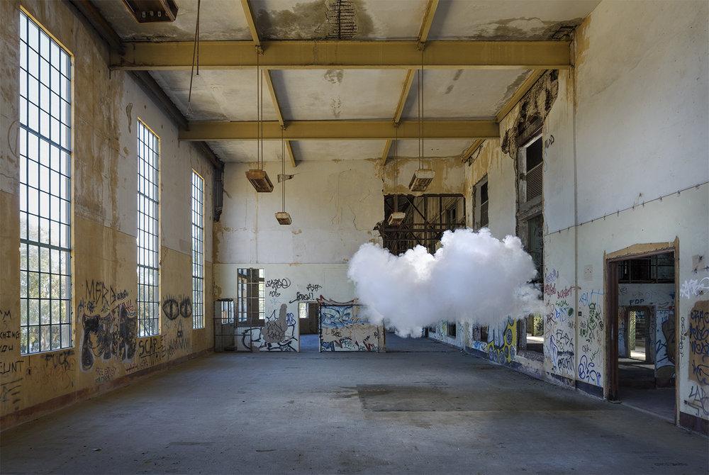 'Nimbus' by Dutch Artist Berndnaut Smilde.