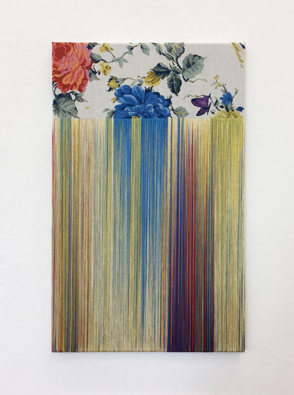 "Aiko Tezuka ""Fragile Surface (daydream) 2017-002"", 2017 (Untied fabric 61 x 38 cm). Exhibited at art berlin 2017."