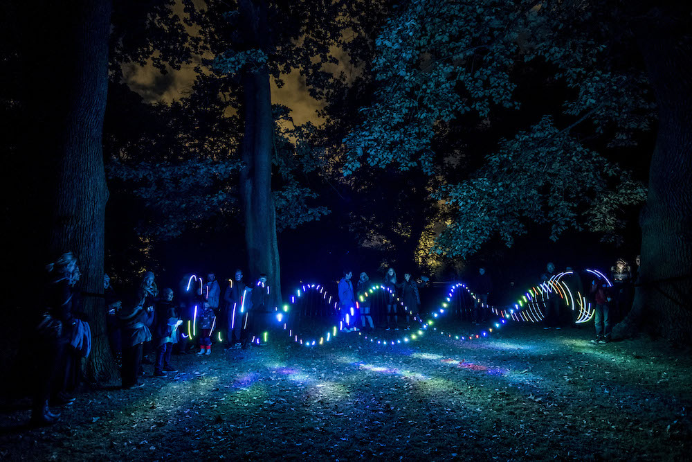 Reflektor Light Festival 2016.  Light Wave  af Michael Cleary. Foto Kim Matthäi Leland.