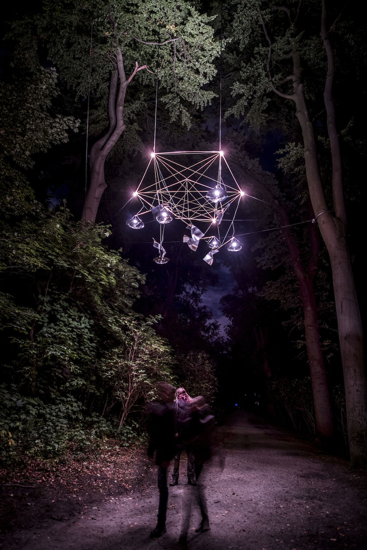 Reflektor Light Festival, 2016. Lyskunst af Byen Sover. Foto Kim Matthäi Leland.