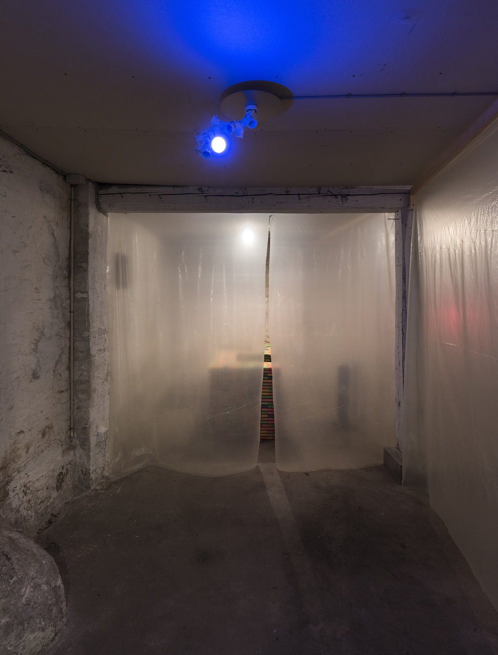 "Room 7: Party Room | Andreas Schlaegel ""Disco Light"", 2017 (Dividers). Photo by David Stjernholm."