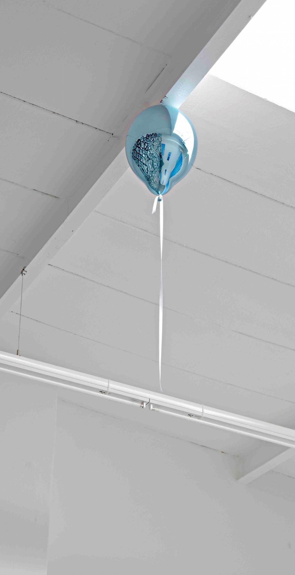 "Jeppe Hein ""Blue Mirror Balloon (light),"" 2017 (installation) | Courtesy the artist and Galleri Nicolai Wallner."
