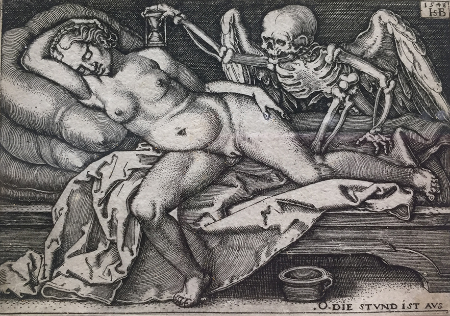 Hans Sebald Beham's engraving Death and the Sleeping Woman from 1548