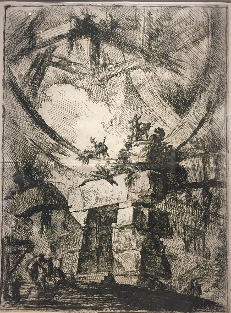 Giovanni Battista Piranesi The Giant Wheel, from Carceri d'invenzioni (Imaginary Prisons), 1701.