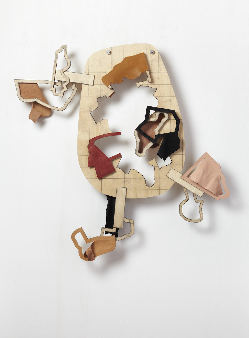 Thomas Bang - Diagram of intrusion and displacement, No. 1, 130 x 131 x 19 cm.