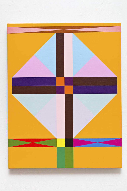 Lothar Götz, Geometry, 2017 (Acrylic on linen, 70 x 55 cm).