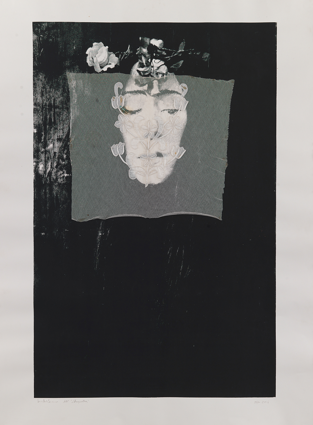 Ursula Reuter Christiansen, Skarpretteren, 1971/2016 (Silketryk) © Ursula Reuter Christiansen.