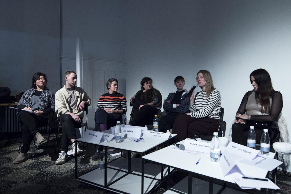 En ny samtale: Debatmøde om #MeToo i dansk kunstliv. Overgaden, d. 21. februar 2018. Foto © I DO ART Agency.