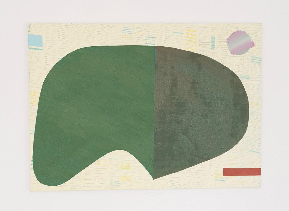 Immanent shape / olie og farveblyant på lærred, 60 x 80 cm. Foto: Benthe Foged Madsen.