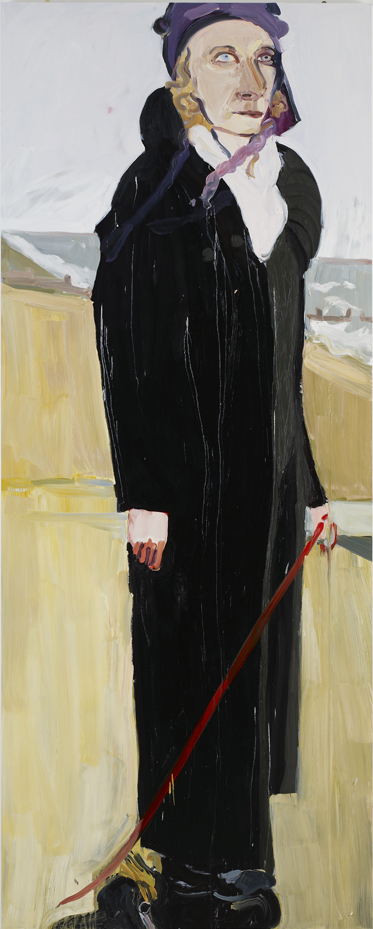 "Chantal Joffe ""Emily"" (2011). Oil on board, 305 x 122 x 6 cm."