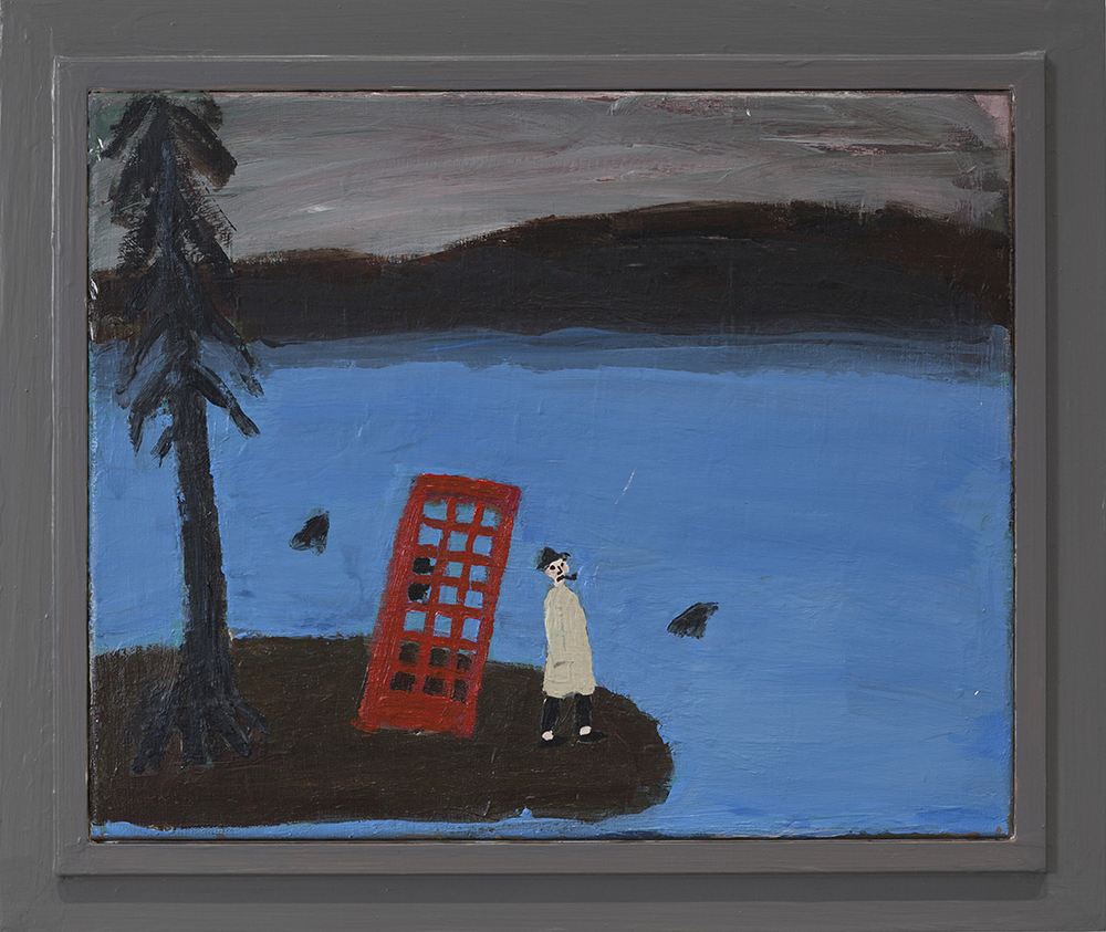 Kent Iwemyr, Calling London,2018. Acrylic on canvas (33 x 41cm).