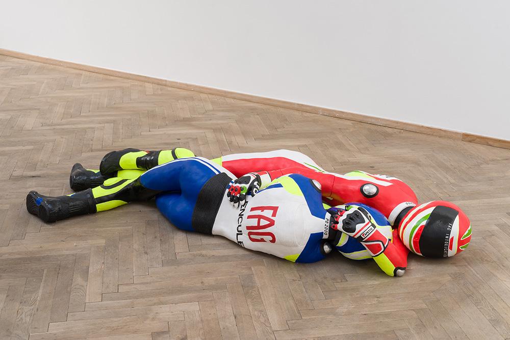 Afgang 2018, Louka Anagyros, 'Leatherboys', 2018. Installation view, Kunsthal Charlottenborg, 2018. Photo: David Stjernholm.