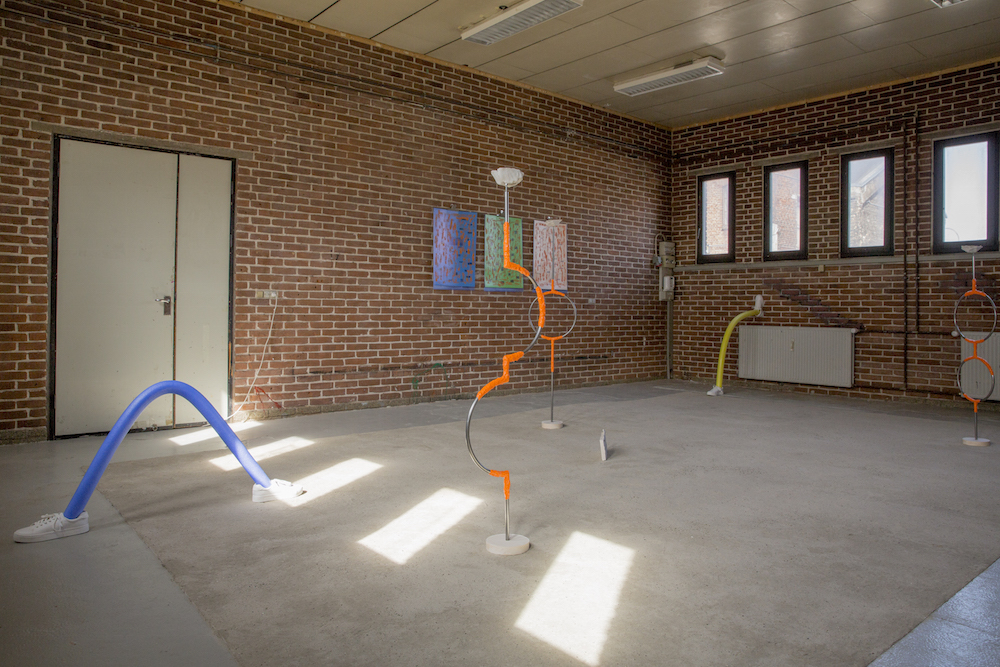 "Mette Boel ""Sunkissed,"" 2018 (exhibition view). Udstillingsstedet Spanien 19C, Aarhus. Foto: Christina Lykke."