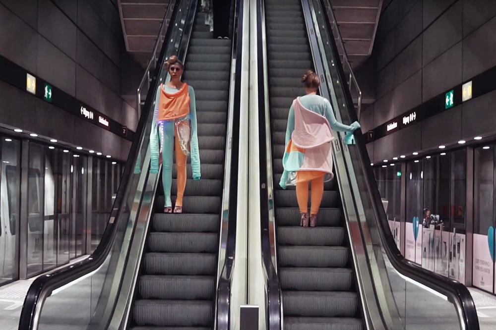 Nuleinn, Parasit (Københavns Metro, 2017). Foto: Video still, Nuleinn.
